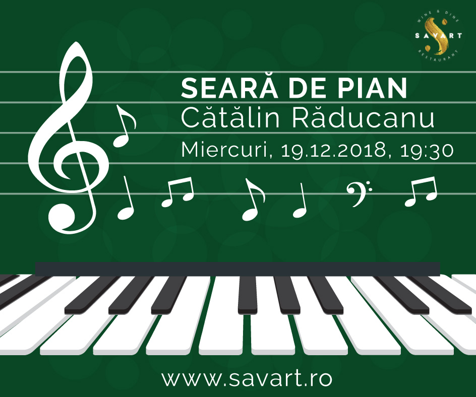 Christmas & Piano Night la Savart Bucuresti